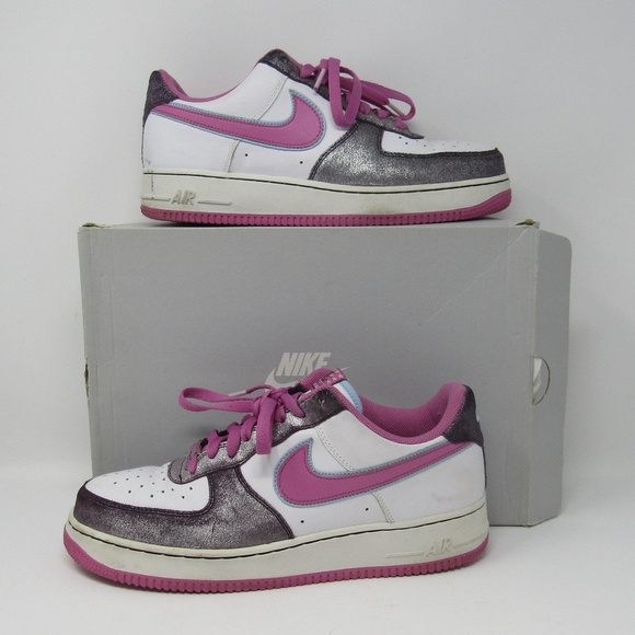nike air force 1 pink silver